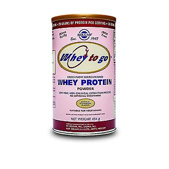 Solgar Whey To Go Protein Powder Natural Strawberry Flavor 16 oz Ct
