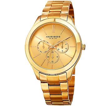 Akribos XXIV AK952YG temps militaire date complication bracelet montre