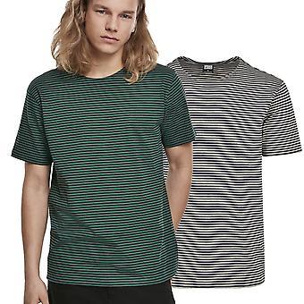 Urban Classics-filato tinto bambino stripe camicia