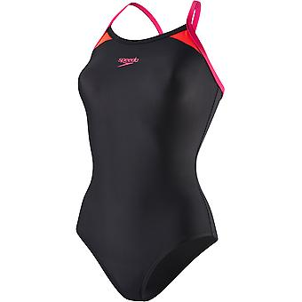 Speedo Splice Thinstrap Racerback Swimwear For Girls