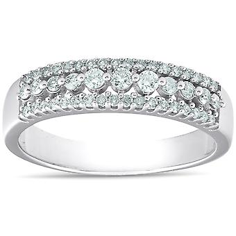 1/3 carat Diamond Wedding Ring 10 KT White Gold