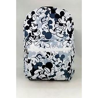 Backpack - Disney - Mickey Mouse - White/Gray All-Over Print New 113858