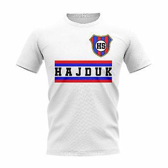 HNK Hajduk Split Core Football Club T-Shirt (Blanc)