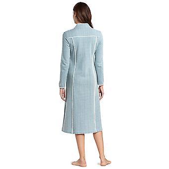 Féraud 3191065-11752 Women's High Class Deep Sea Blue Cotton Dressing Gown Loungewear Robe