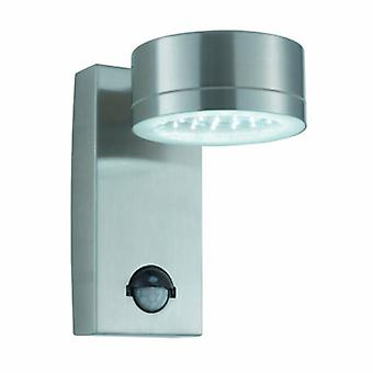 Luz de pared exterior LED acero inoxidable con sensor de movimiento IP44
