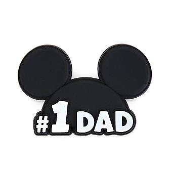 Novelty Magnet - Disney - Mickey Head - No. 1 Dad Soft Touch PVC New 85793