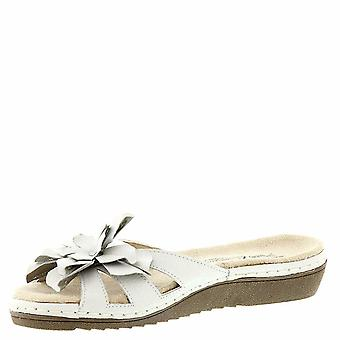 Beacon Womens Cupcake Leder Open Toe Casual Slide Sandalen