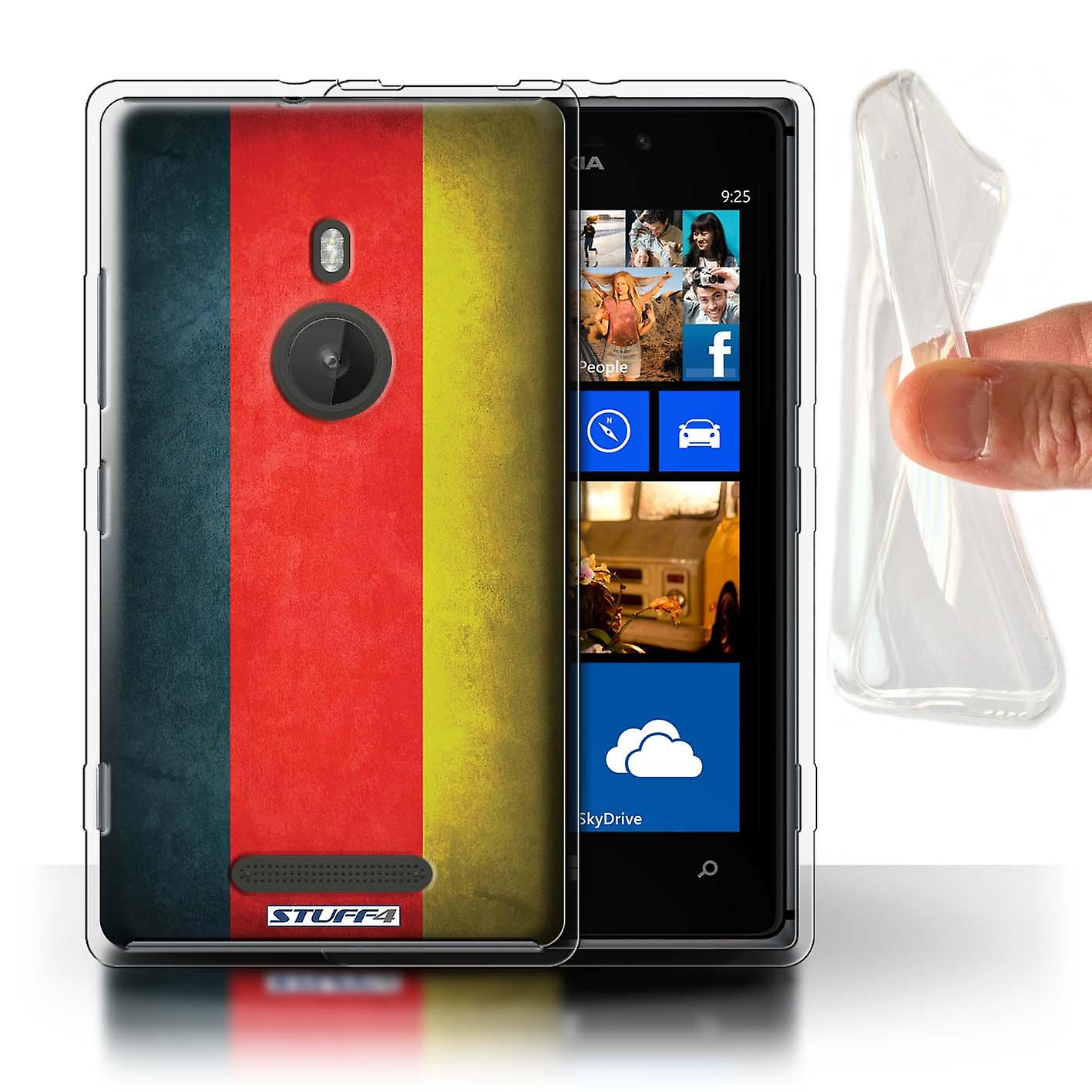 STUFF4 Gel TPU Case/Cover for Nokia Lumia 925/Germany/German/Flags