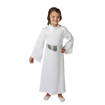 Jenter prinsesse Leia Star Wars film Fancy Dress drakt barn antrekk