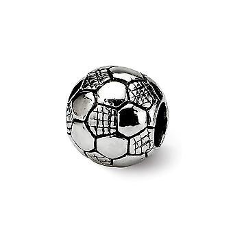 925 Sterling Silver Leštené odrazy Deti Futbal Lopta Guľa Kúzlo Prívesok Náhrdelník Šperky darčeky pre ženy