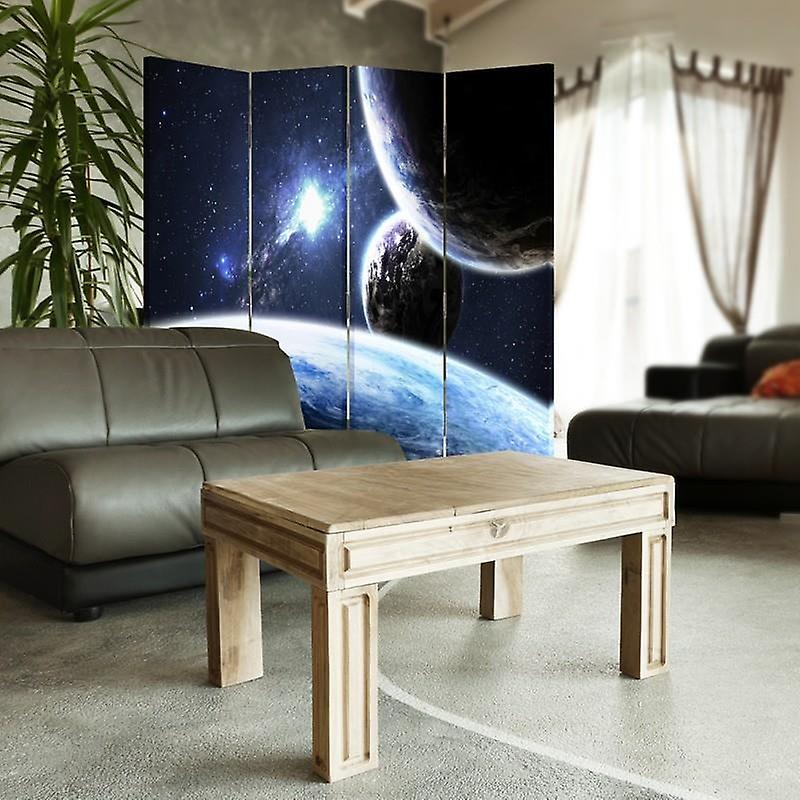 Room Divider, 4 panneaux, Double-Sided, Rotatable 360 ?? Canvas, Espace