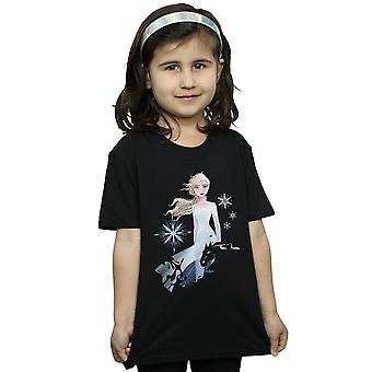 Disney Girls Frozen 2 Elsa Nokk Silhouette T-Shirt