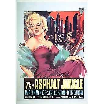 Affiche de réimpression de la jungle d'asphalte (réimpression)
