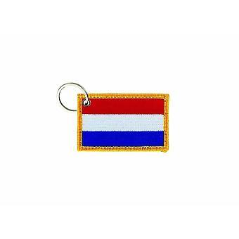 Cle Cles Key Brode Parche Ecusson Insignia Bandera Holanda Países Bajos