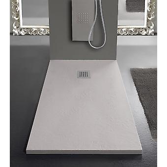 Piatto doccia marmoresina pietra grigio chiaro scarico laterale