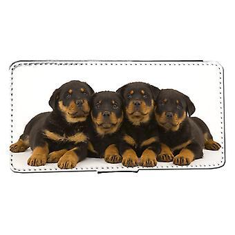 iPhone 7/8 Wallet Case puppies Rottweiler hond Peel