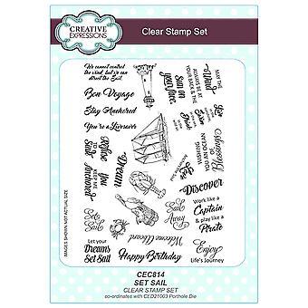 Creative Expressions A5 Clear Stamp Set - CEC814 Set Sail