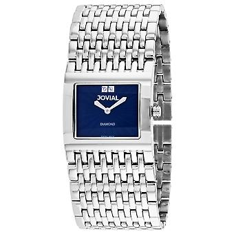 Jovial Women's Diamond Blue Dial Watch - 08037-MSM-03