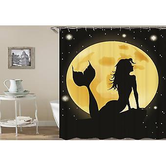 Moon Light Mermaid Shower Curtain