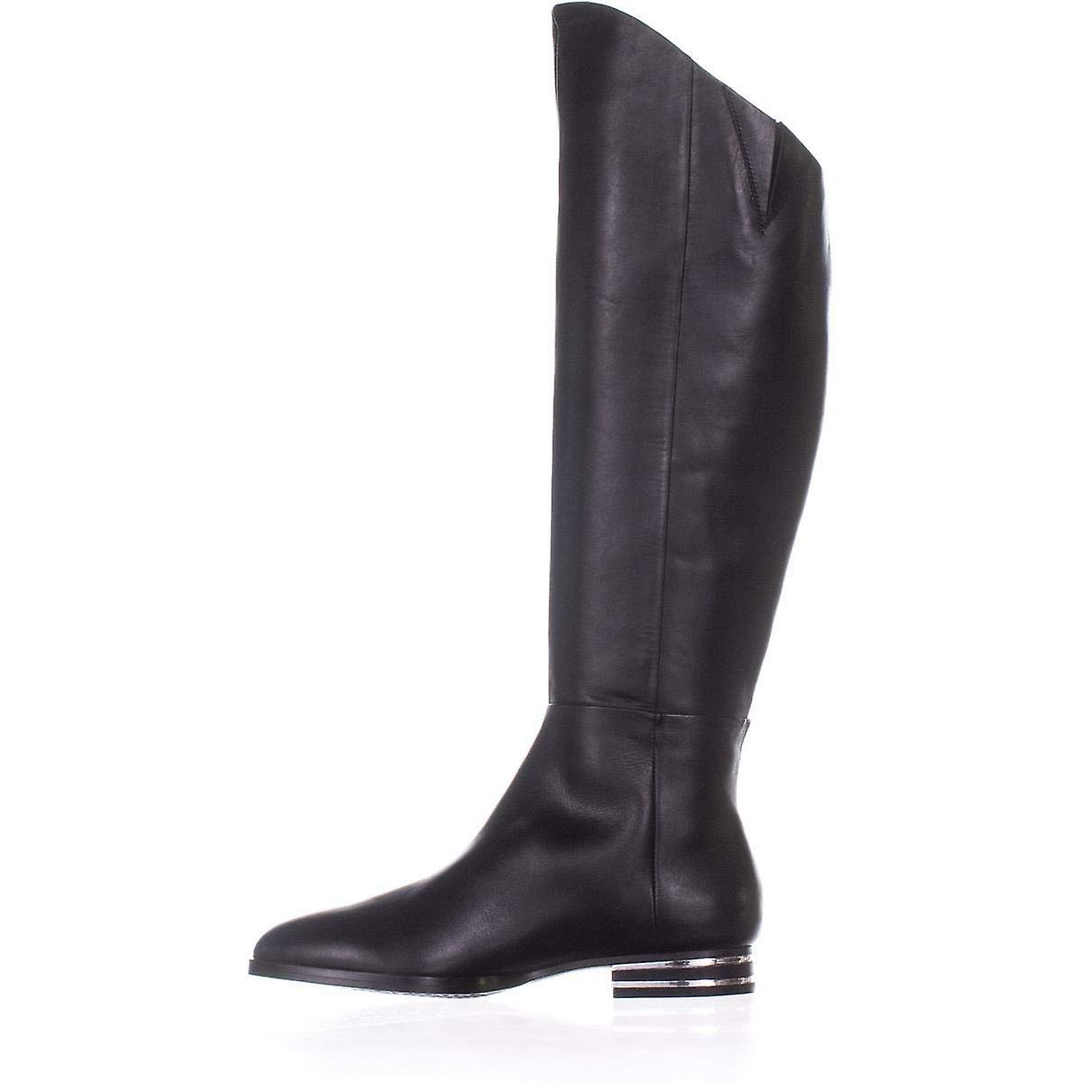 DKNY Lolita Over The Knee Boots, Black Leather