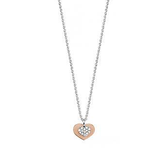 ESPRIT women's łańcuch naszyjnik srebrny cyrkonia COEUR ESNL92854A420