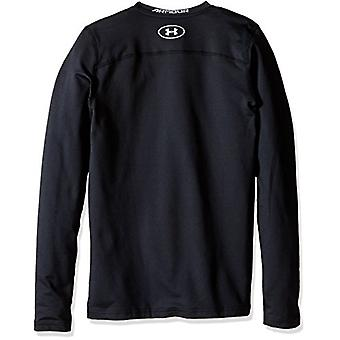 Under Armour Boys' ColdGear Armour Crew,, Black (001)/Steel, Size Youth - Small