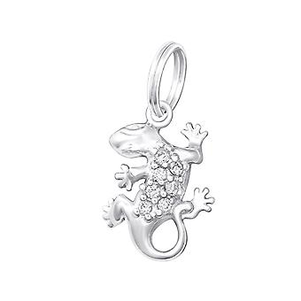 Gecko - 925 Sterling Silver Charms with Split ring - W29986X