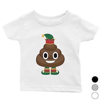 Poop Elf Cute Holiday Baby Shirt X-mas Present