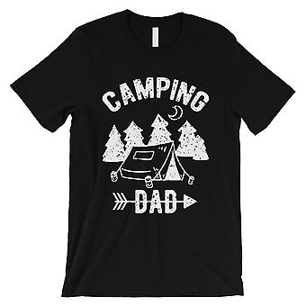 Camping Dad Mens Black Caring Clever Handy Fun Outdoors Shirt Gift