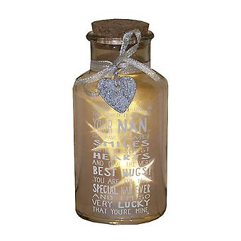 Message Of Love Light Up Jar
