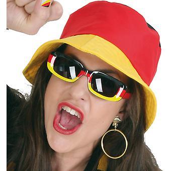 Fan de chapeau or rouge Allemagne Allemagne noir