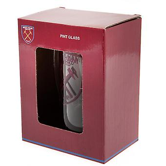 West Ham United FC Crest glass Tankard