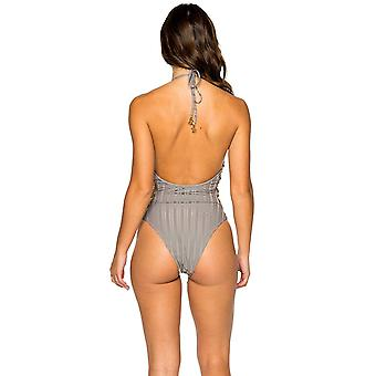 Luli Fama Women's Swimwear, -gray, SML