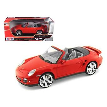 Porsche 911 (997) Turbo Cabrio Rot 1/18 Diecast Auto Modell von Motormax