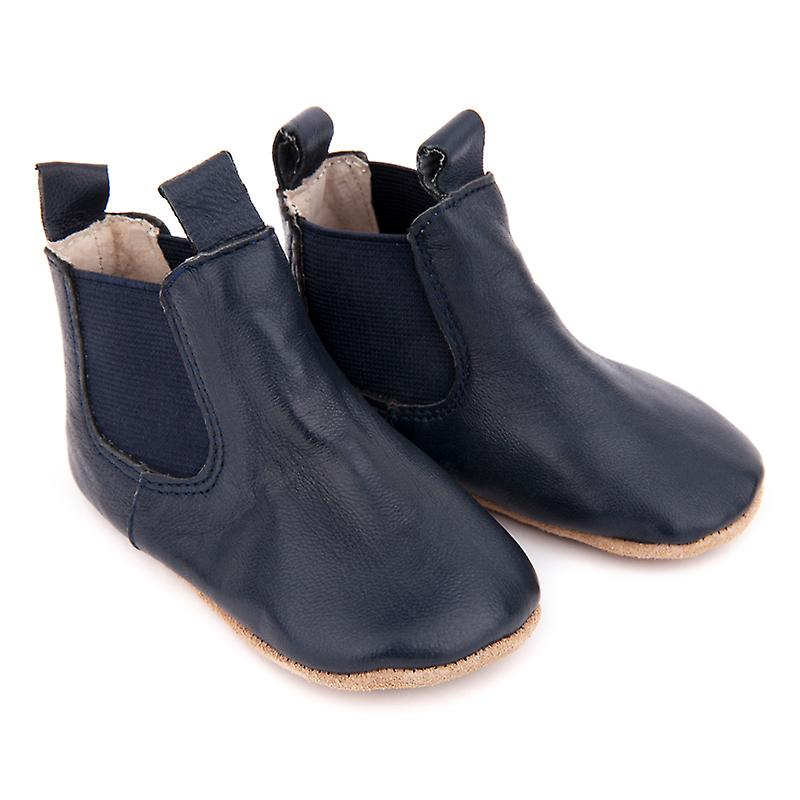 SKEANIE Pre-walker Baby & Toddler Riding Boots in Navy Blue