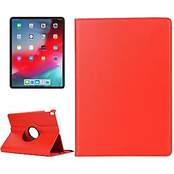 For iPad Pro 12.9 Inch (2018) Case,Lychee Texture PU Leather Folio Cover,Red