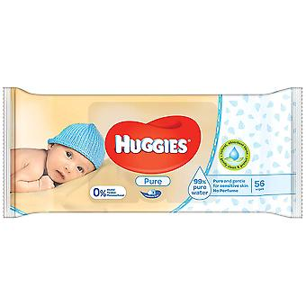 Huggies Pure Gentle Cleaning Wipes, 56-Count