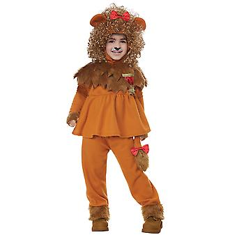 Courageous Cowardly Lion The Wizard Of Oz Book Week Toddler Girls Costume