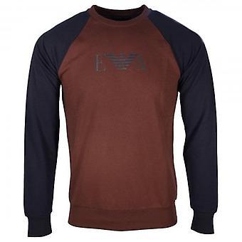 Emporio Armani Underwear Burgundy Crew Neck Loungewear Sweatshirt 111062 9A566