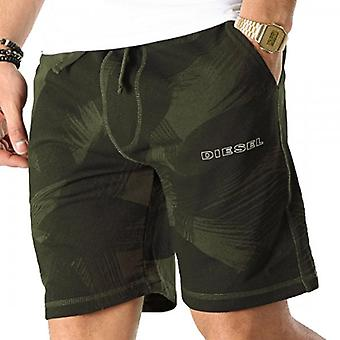Diesel  Diesel Pan Black/Khaki Green Camouflage Jersey Shorts