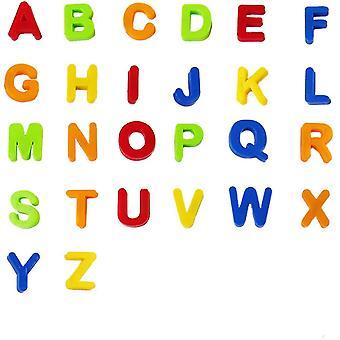 Fargerik magnetisk plast alfabetet kapital og små bokstaver A-Z