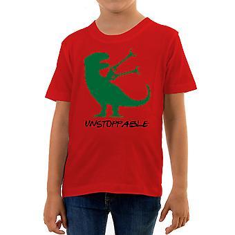 Reality glitch unstoppable t-rex dinosaur kids t-shirt