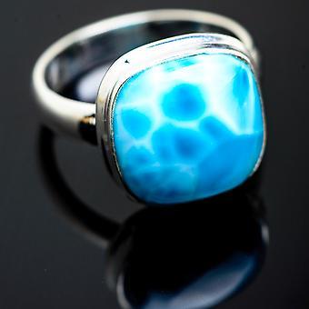 Larimar Ring Größe 7,5 (925 Sterling Silber) - handgemachte Boho Vintage Schmuck RING993248