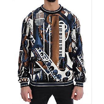 Dolce & Gabbana Multicolor Jazz Pailletten Runway Pullover Pullover Pullover