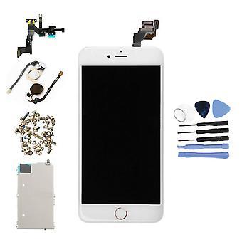 الاشياء المعتمدة® iPhone 6 Plus شاشة تم تجميعها مسبقًا (شاشة تعمل باللمس + LCD + أجزاء) A + Quality - White + Tools