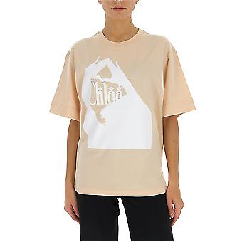 Chloé Chc20sjh031816k6 Women's Pink Cotton T-shirt