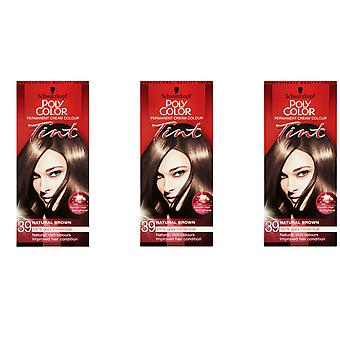 Schwarzkopf Poly Hair Color Tint - Natural Light Brown 39
