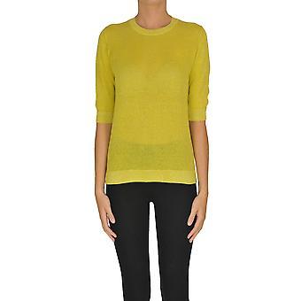Alyki Ezgl111016 Kvinder's Gul bomuldsweater