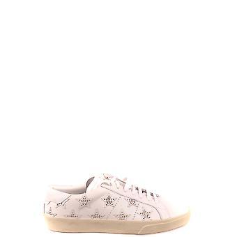 Saint Laurent Ezbc022035 Women's White Leather Sneakers