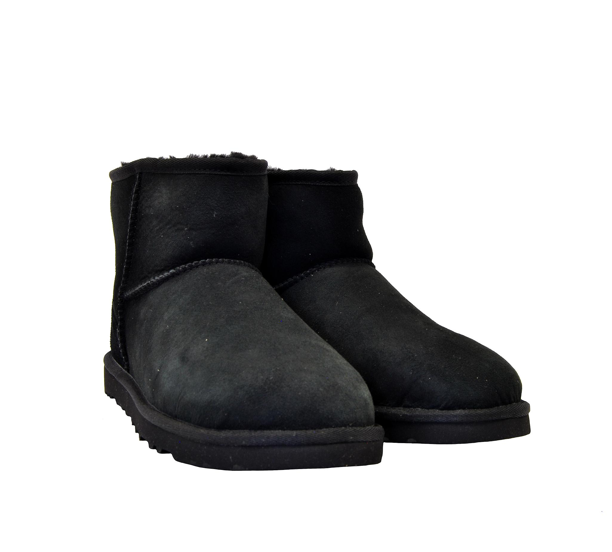 Ugg Miniclassiciiblacm Men-apos;s Black Suede Ankle Boots